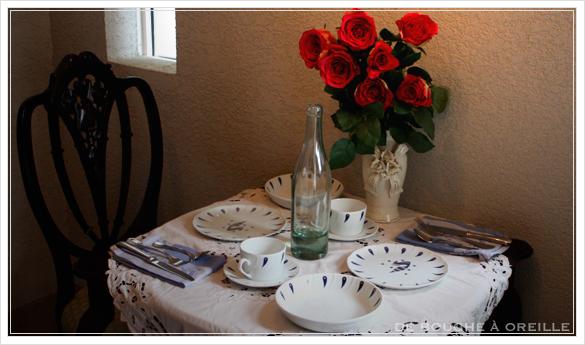 """service de table pour deux エールフランスの食器たち """"Air Franceに乗って... """" フランスアンティーク_d0184921_13274532.jpg"""