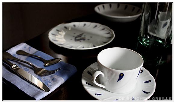 """service de table pour deux エールフランスの食器たち """"Air Franceに乗って... """" フランスアンティーク_d0184921_13362454.jpg"""