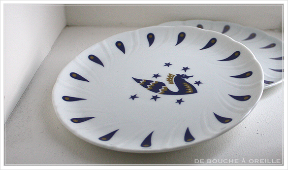 """service de table pour deux エールフランスの食器たち """"Air Franceに乗って... """" フランスアンティーク_d0184921_13500238.jpg"""