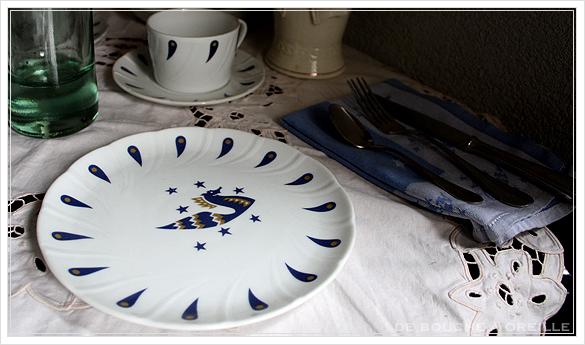 """service de table pour deux エールフランスの食器たち """"Air Franceに乗って... """" フランスアンティーク_d0184921_13521428.jpg"""