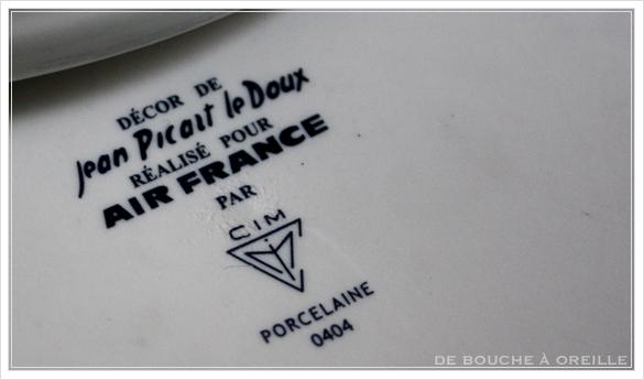 """service de table pour deux エールフランスの食器たち """"Air Franceに乗って... """" フランスアンティーク_d0184921_13542291.jpg"""