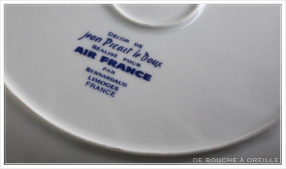 """service de table pour deux エールフランスの食器たち """"Air Franceに乗って... """" フランスアンティーク_d0184921_14010998.jpg"""