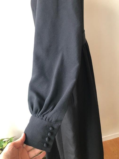 着物着物リメイク・喪服のお着物からピンタックギャザーワンピース_d0127925_17363326.jpg