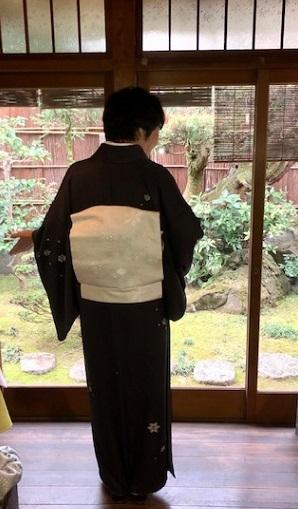 新年会のお客様・雪の結晶の着物・帯・草履・帯揚げ。_f0181251_19080579.jpg