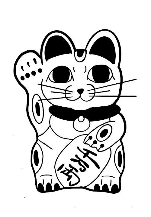 獅子丸くんが描いた招き猫が…(汗)_a0148054_16230708.jpg