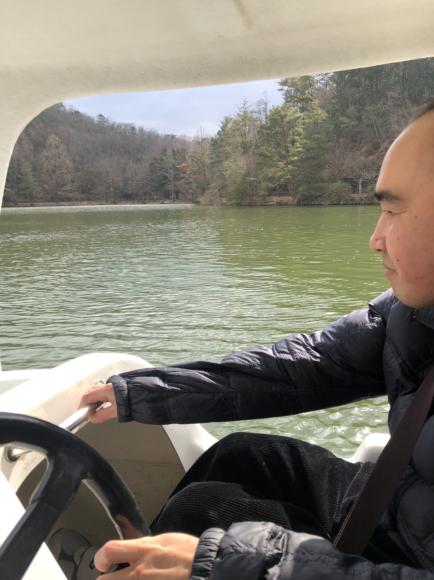 足漕ぎボート初体験 in 宝ヶ池_d0227066_20342605.jpg