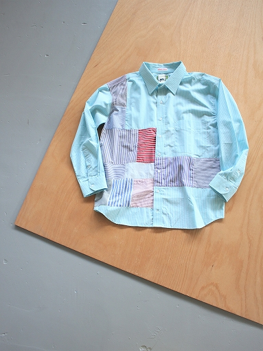SLIDER STORE × WEST\'S(WESTOVERALLS) Crazy Shirt - Stripe_b0139281_15102825.jpg