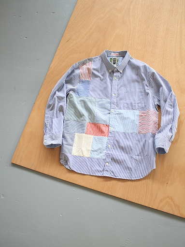 SLIDER STORE × WEST\'S(WESTOVERALLS) Crazy Shirt - Stripe_b0139281_15112358.jpg