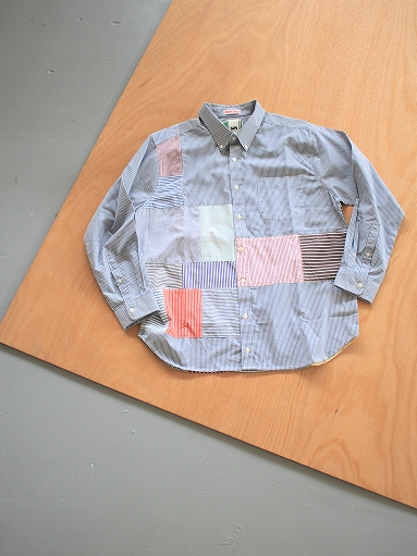 SLIDER STORE × WEST\'S(WESTOVERALLS) Crazy Shirt - Stripe_b0139281_15122626.jpg