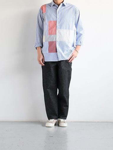SLIDER STORE × WEST\'S(WESTOVERALLS) Crazy Shirt - Stripe_b0139281_151346100.jpg