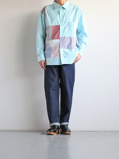 SLIDER STORE × WEST\'S(WESTOVERALLS) Crazy Shirt - Stripe_b0139281_15135513.jpg