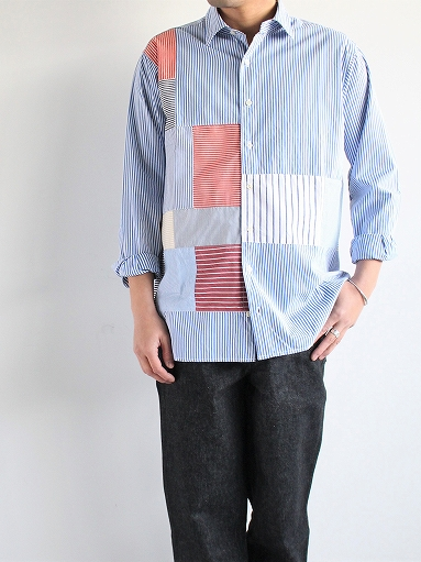 SLIDER STORE × WEST\'S(WESTOVERALLS) Crazy Shirt - Stripe_b0139281_1582179.jpg