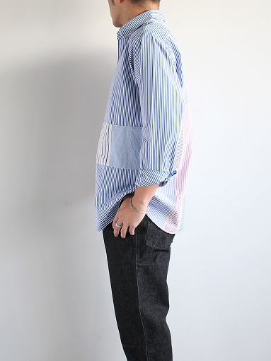 SLIDER STORE × WEST\'S(WESTOVERALLS) Crazy Shirt - Stripe_b0139281_1582774.jpg