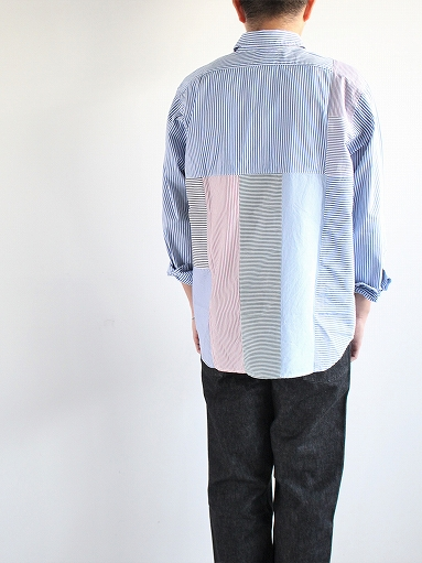 SLIDER STORE × WEST\'S(WESTOVERALLS) Crazy Shirt - Stripe_b0139281_1583443.jpg