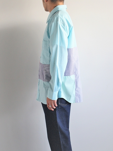 SLIDER STORE × WEST\'S(WESTOVERALLS) Crazy Shirt - Stripe_b0139281_1584875.jpg