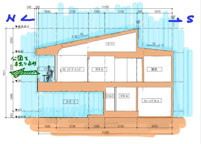 公園を独り占めできる2階リビングの家 竣工写真2_b0349892_09362682.jpg