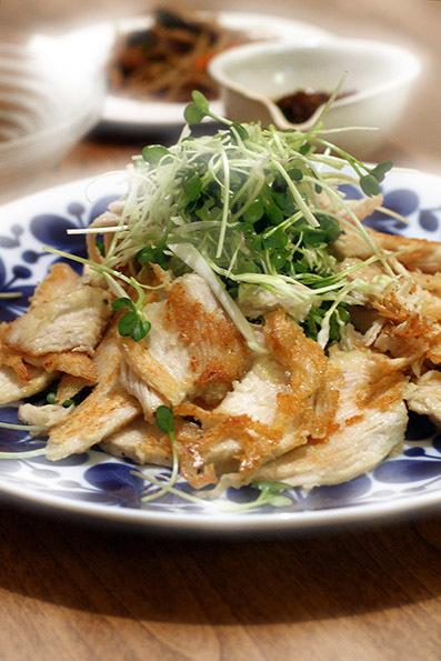 鶏ハムのサクサク焼き_e0137277_16402895.jpg