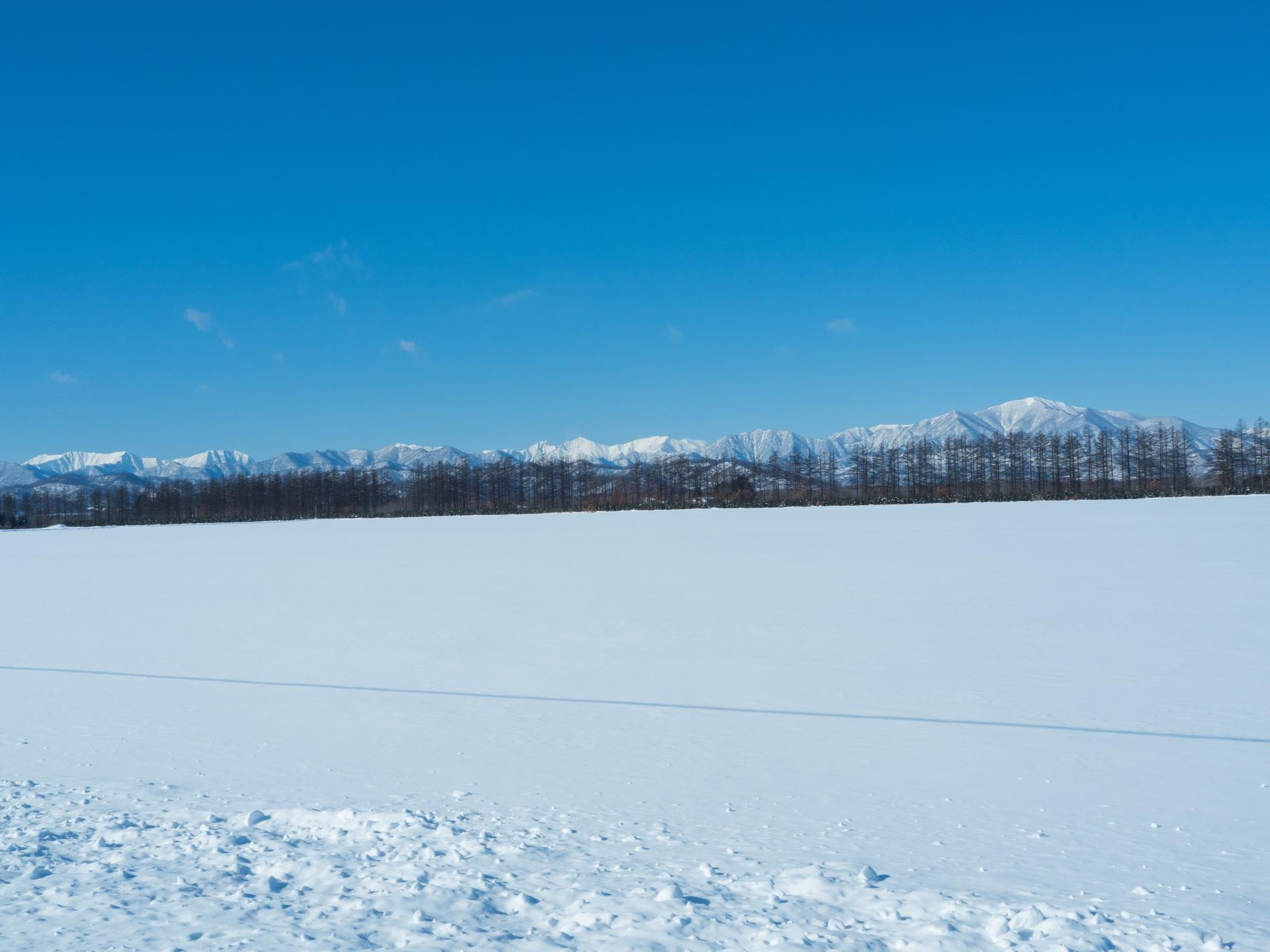 今季最高の冷え込み・・快晴で日高山脈がきれいに望めます。_f0276498_11362181.jpg