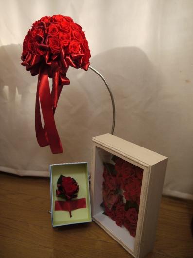 プロポーズのバラの加工のご注文_a0123133_16074649.jpg