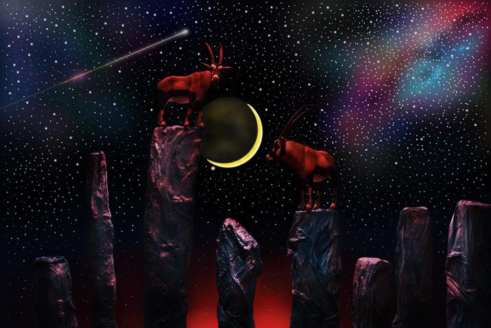 星空と三日月と岩山のブルーロックス_b0175635_10292717.jpg
