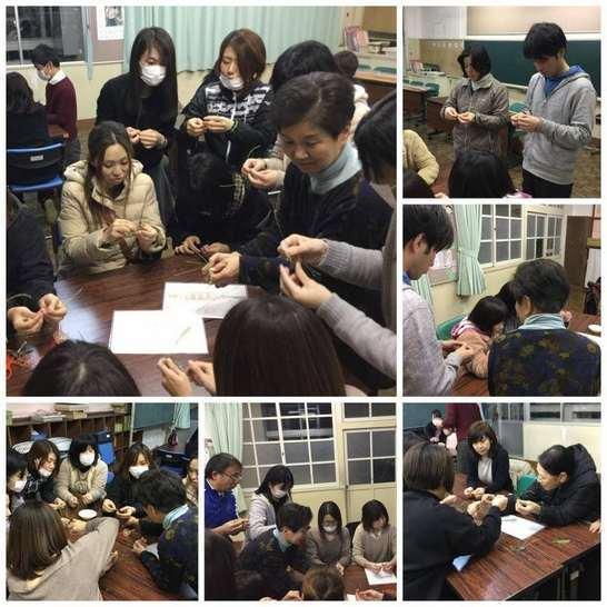 中曽根小学校の卒業式コサージュ作り_e0181051_07030976.jpg