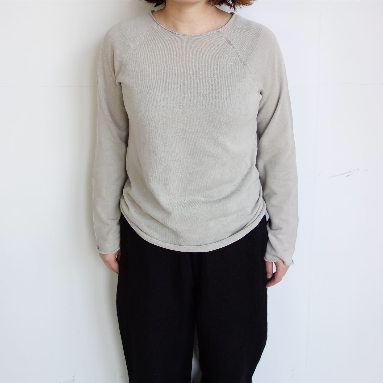 F/style : ホールガーメントの綿ニット 丸首・長袖_a0234452_12313253.jpg