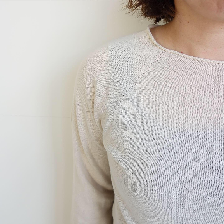 F/style : ホールガーメントの綿ニット 丸首・長袖_a0234452_12314991.jpg