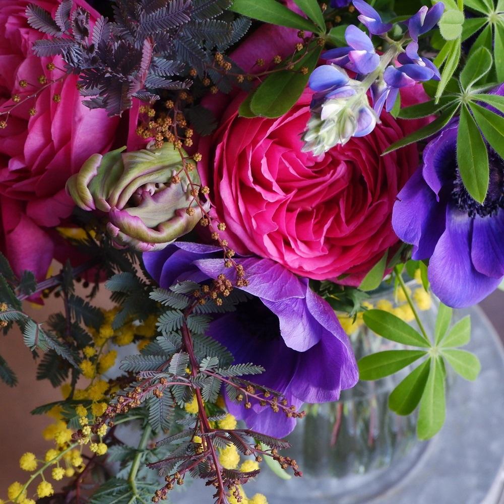 オークリーフ(イヴパッションとミモザの花束)_f0049672_15223733.jpg