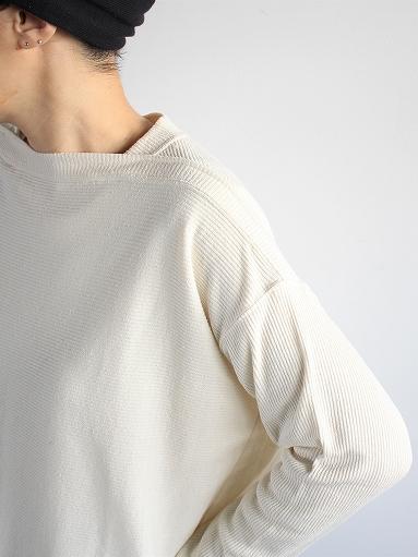 unfil raw silk ribbed-jersey boat neck tee_b0139281_17143528.jpg