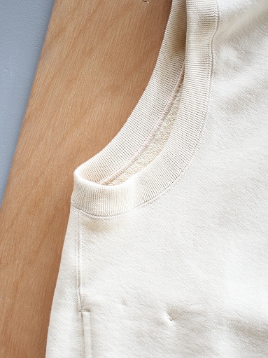 unfil paper & cotton-terry sleeveless hoodie / ecru_b0139281_1810154.jpg