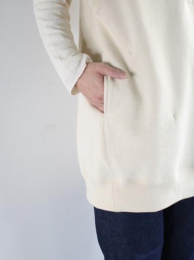 unfil paper & cotton-terry sleeveless hoodie / ecru_b0139281_18103088.jpg