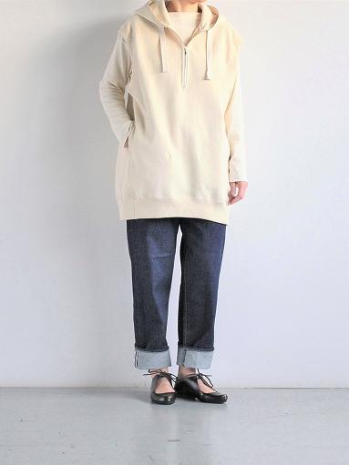 unfil paper & cotton-terry sleeveless hoodie / ecru_b0139281_1810511.jpg