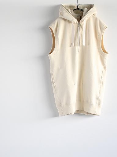 unfil paper & cotton-terry sleeveless hoodie / ecru_b0139281_1883478.jpg