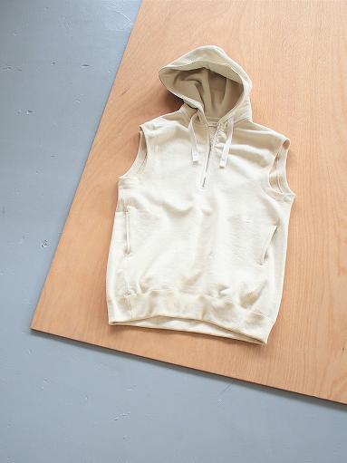 unfil paper & cotton-terry sleeveless hoodie / ecru_b0139281_189525.jpg