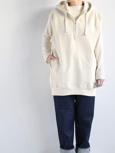 unfil paper & cotton-terry sleeveless hoodie / ecru_b0139281_189564.jpg