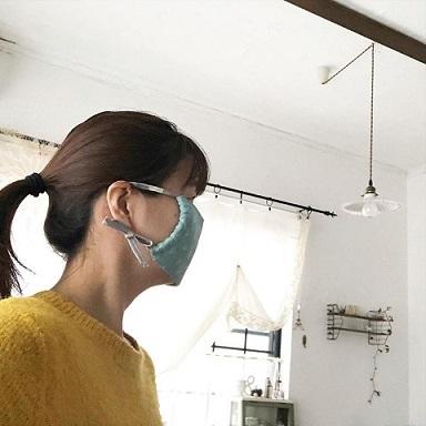 『手作りマスク』耳が痛くなりにくいマスクゴムの代用になる布紐の作り方(縫わずに作る追記有)_f0023333_11401580.jpg