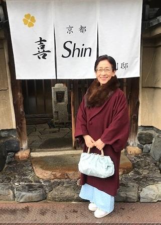 新年会・野村エミさん・伊と幸色無地にまいづる干支の帯。_f0181251_13414443.jpg