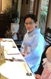 新年会・野村エミさん・伊と幸色無地にまいづる干支の帯。_f0181251_13453759.jpg