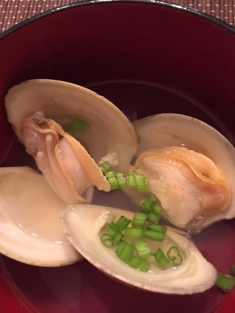 ハマグリの潮汁と鰻丼_e0350971_15203958.jpg