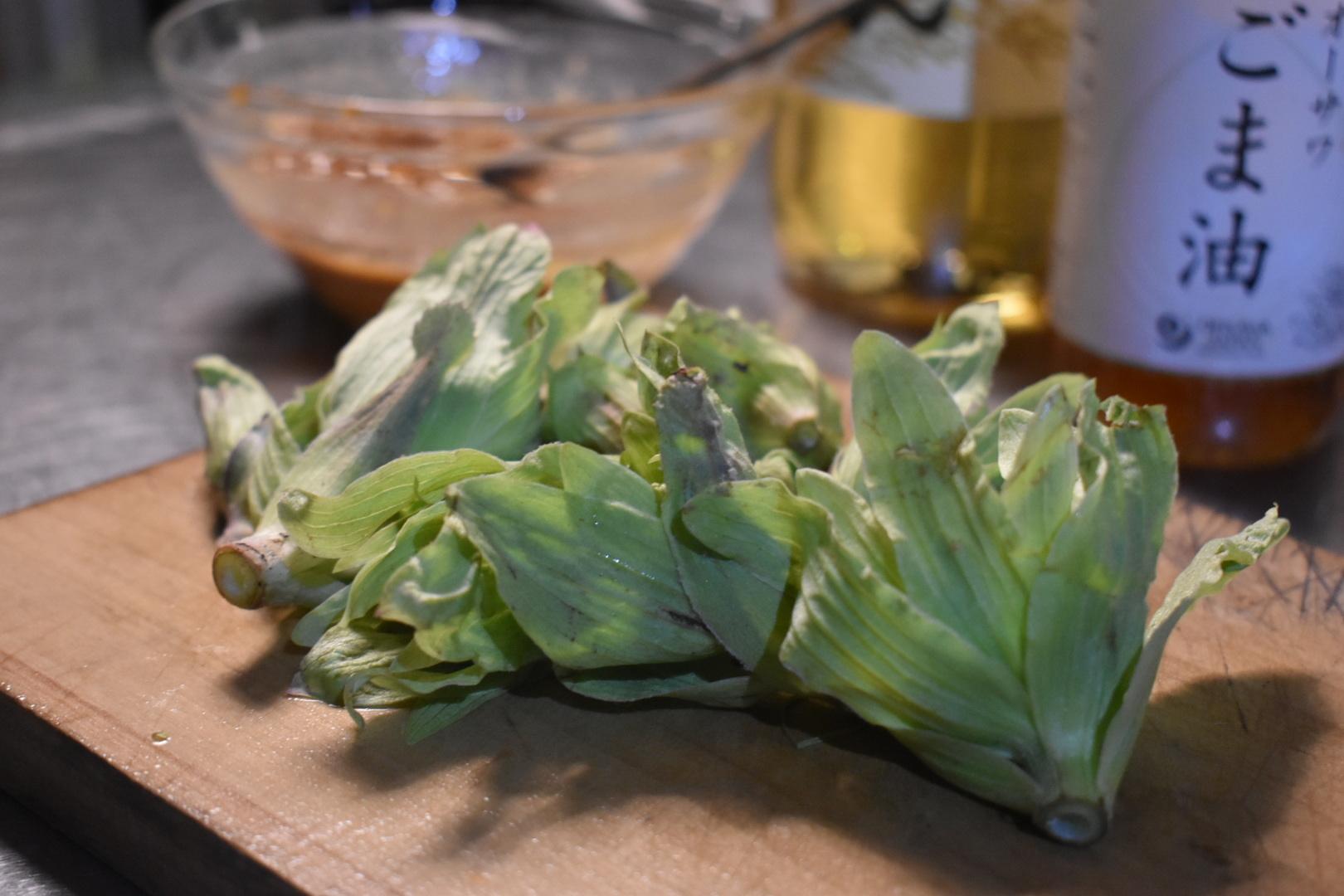 紀元節の夜、蕗味噌を作る。_d0087595_19595972.jpeg