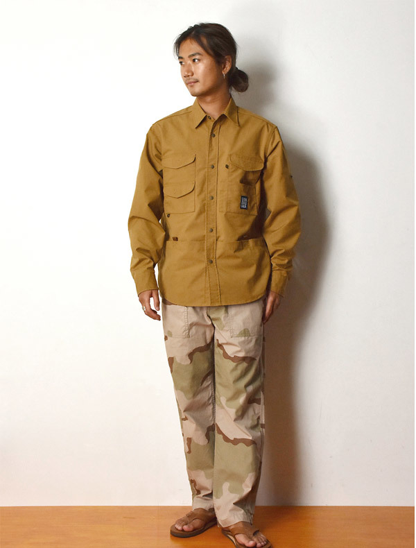 【DELIVERY】 STANDARD CALIFORNIA - Coolmax Stretch Duck Field Shirt_a0076701_12540474.jpg