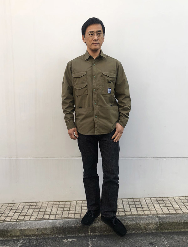 【DELIVERY】 STANDARD CALIFORNIA - Coolmax Stretch Duck Field Shirt_a0076701_12544868.jpg