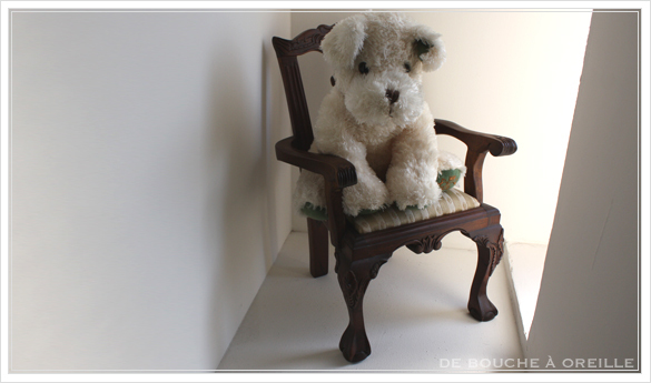 chaise de poupee 古い木製のドールチェア チッペンデール様式 フランスアンティーク_d0184921_16135904.jpg