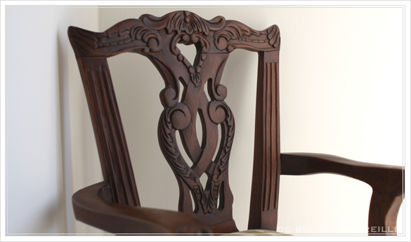 chaise de poupee 古い木製のドールチェア チッペンデール様式 フランスアンティーク_d0184921_16192683.jpg