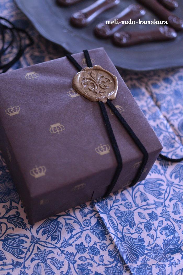 ◆ラッピング*バレンタインデーのオーダー×ネットで購入した革製品のプレゼント_f0251032_18273645.jpg