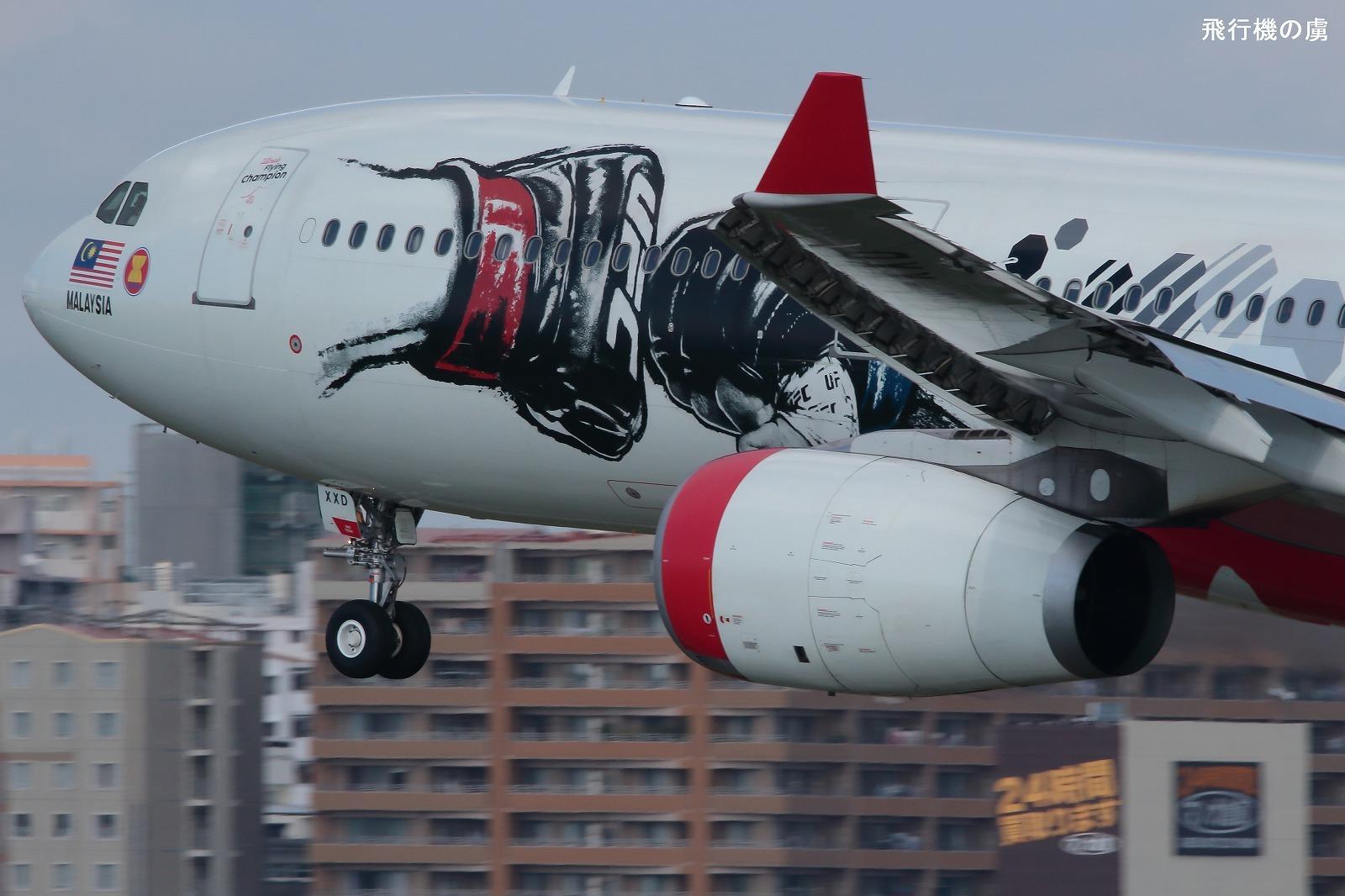 拳が飛ぶ  A330  エアアジア X(D7)_b0313338_19124334.jpg