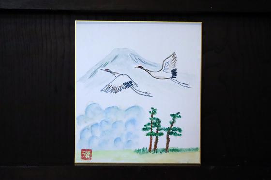 日本画 ~ 鶴の飛翔 ~_e0222340_13504955.jpg