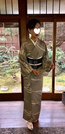 新年会のお客様・作家さんの着物と藍染木屋太帯。_f0181251_18024067.jpg