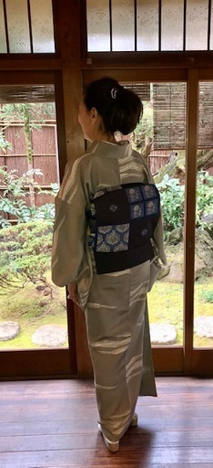 新年会のお客様・作家さんの着物と藍染木屋太帯。_f0181251_18044819.jpg