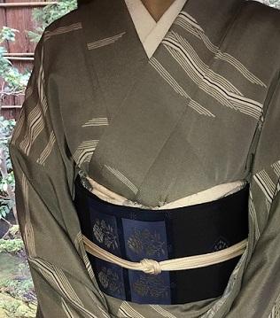 新年会のお客様・作家さんの着物と藍染木屋太帯。_f0181251_18055109.jpg